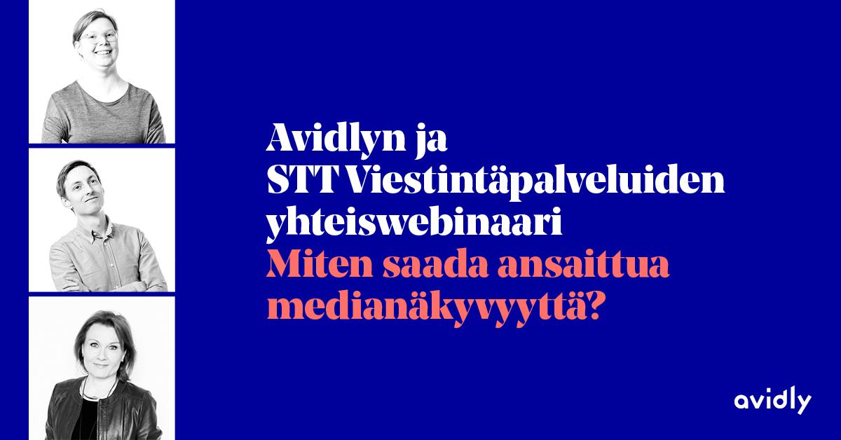 Avidly STT yhteiswebinaari Medianakyvyys (2)